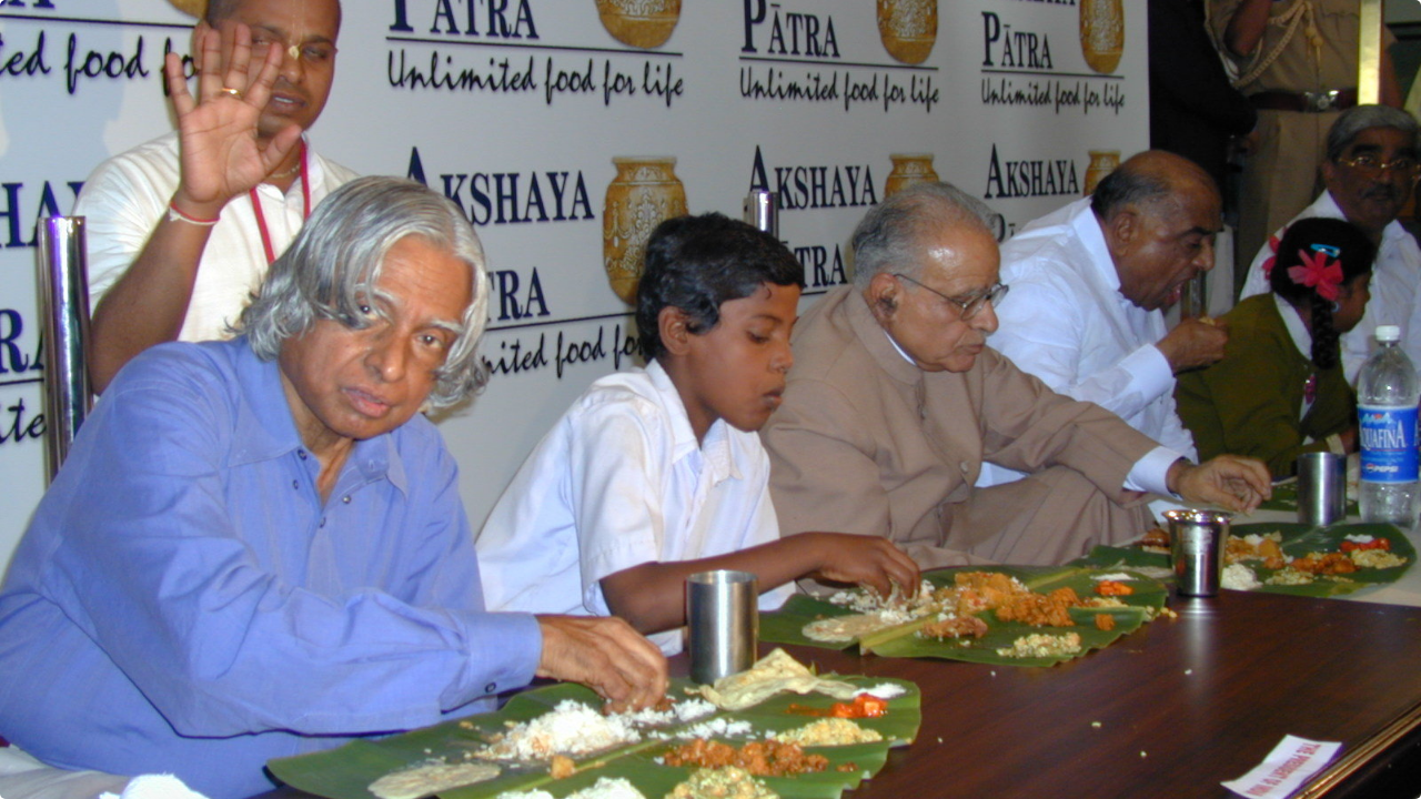Abdul Kalam at Akshyapatra foundation event in 2011